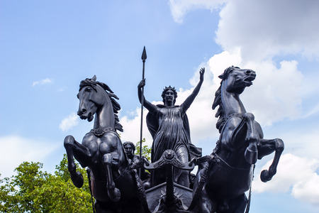 Statue of Boudica at the foot of Westminster Bridge, London, UK photo