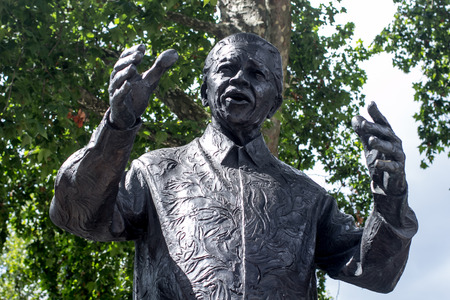 Monument of Nelson Mandela in Westminster, London, UK