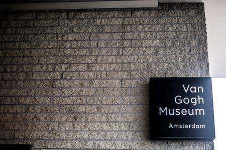 Van Gogh Museum Amsterdam signage.