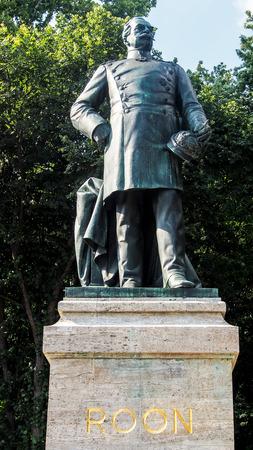 graf: Statue of Albrecht Graf von Roon in Tiergarten, Berlin, Germany