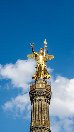 The Siegessaule, Victory Column located at the Tiergarten in Berlin, Germany Stock Photo