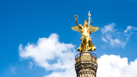 The Siegessaule, Victory Column located at the Tiergarten in Berlin, Germany Editorial