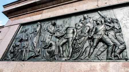 Sculpture on the Victory Column located at the Tiergarten in Berlin, Germany