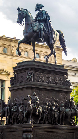 Statue of King Frederick II the great in boulevard Unter den Linden, Berlin, Germany Stock Photo