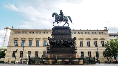 Statue of King Frederick II the great in boulevard Unter den Linden, Berlin, Germany Editorial