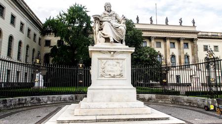 Statue of Wilhelm von Humboldt in Berlin, Germany