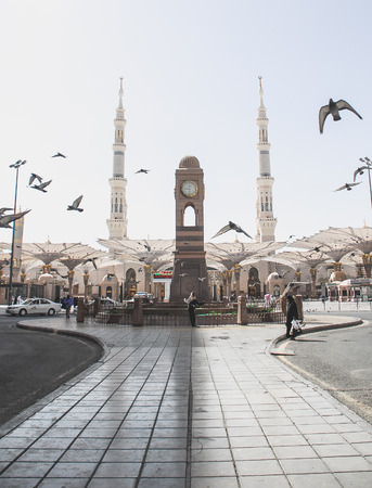 Masjid Nabawi in Madinah, Saudi Arabia.