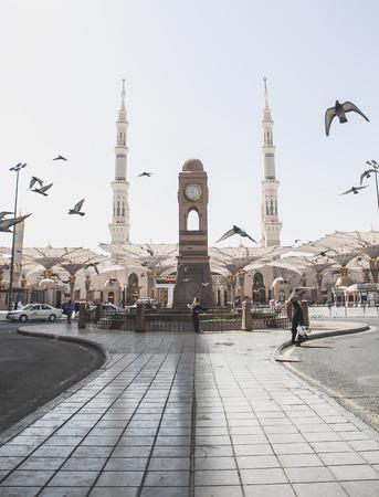 medina: Masjid Nabawi in Madinah, Saudi Arabia.