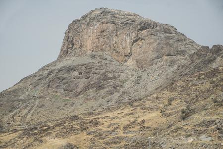 nabi: Jabal Al Nour Mountain where the Cave of Hira located in Mekah, Saudi Arabia.