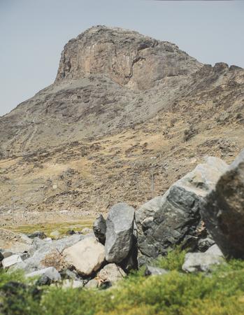 Jabal Al Nour Mountain where the Cave of Hira located in Mekah, Saudi Arabia.