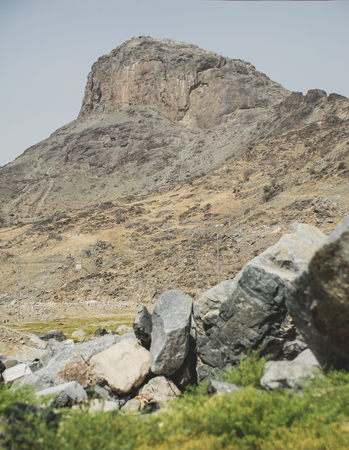 nabi: Jabal Al Nour Mountain where the Cave of Hira located in Mekah, Saudi Arabia.