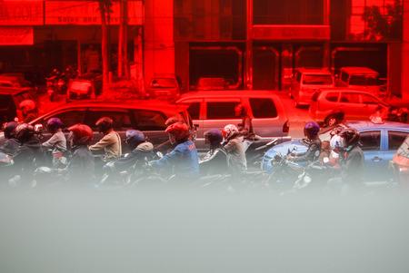 Traffice in Jakarta, Indonesia Editorial