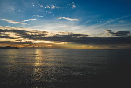 Sunrise in Cherating, Malaysia. Stock Photo