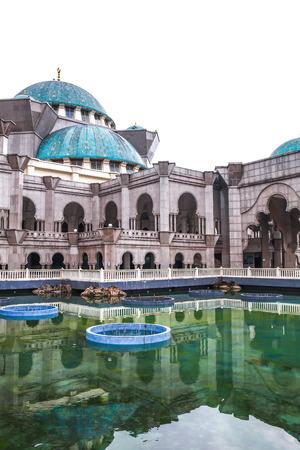 The Federal Territory Mosque or Masjid Wilayah Persekutuan, one of the major mosque in Kuala Lumpur Malaysia Stock Photo
