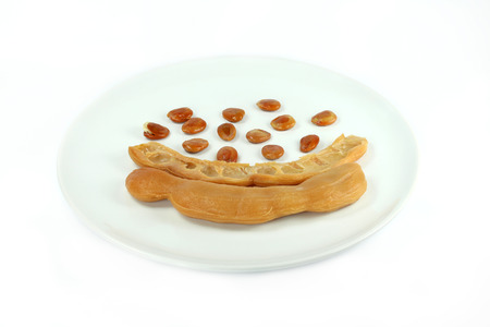 Crytallized Tamarind  on white plate