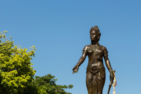 Monument Chamadevi Queen in Lamphun Thailand.