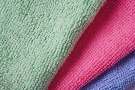 Multicolor micro Fiber cleaning cloth with static electricity that attracts dust Imagens