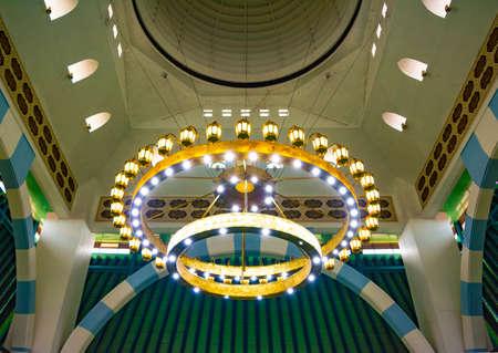 Semarang, Indonesia - CIRCA Nov 2019: Interior of The Great Mosque of Central Java (Masjid Agung Jawa Tengah).