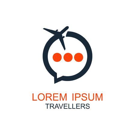 Travel logo, holidays, tourism, business trip company logo design, vector illustration