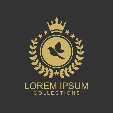 Luxury Bird Logo template in vector for Restaurant, Royalty, Boutique, Cafe, Hotel, Heraldic, Jewelry, Fashion and other vector illustration