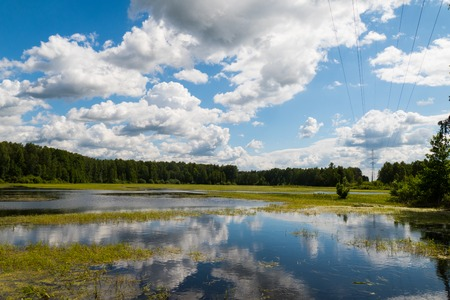 fells: Lake with reflection of clouds 2015 pond