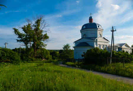 Church in the countryside in the summer of Russia