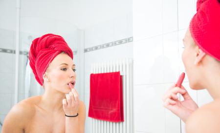 nines: Woman in the Bathroom