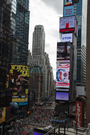 time's: Times Square New York from upwards Editorial