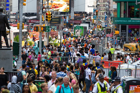 time's: Times Square New York Crowded Editorial