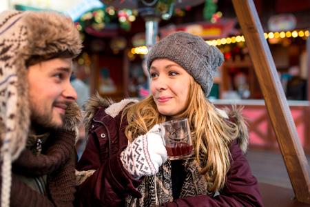 hogmanay: Couple on the Christmas Market