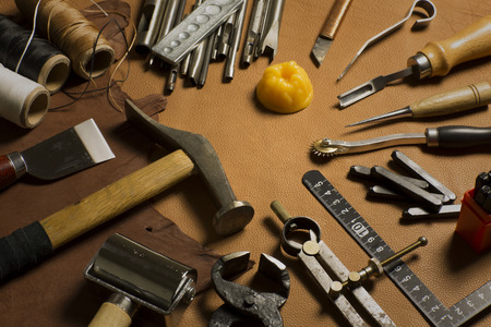 waxed: Homemade leather craft tool and accessories