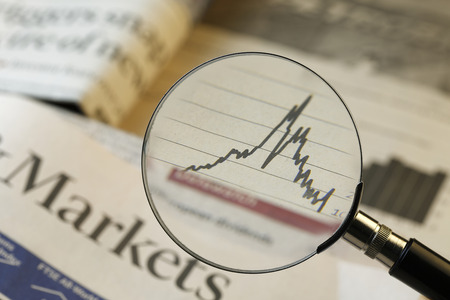selective focus: Financial Analysis,shot with very shallow depth of field. Stock Photo