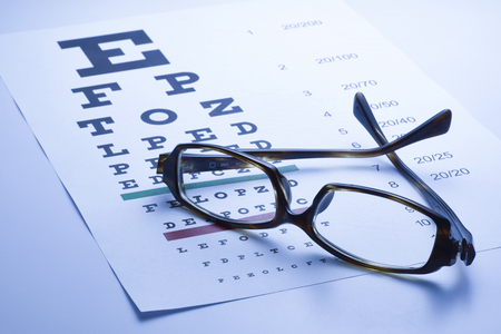 eye chart: Eye chart, blue tone