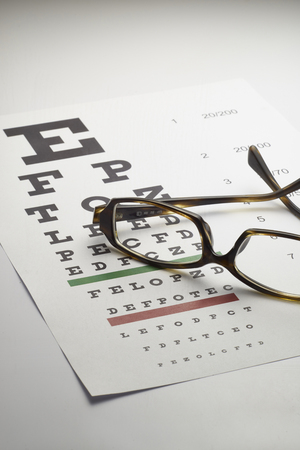 blindness: Eye chart Stock Photo
