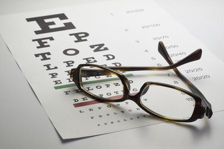 eye chart: Eye chart Stock Photo