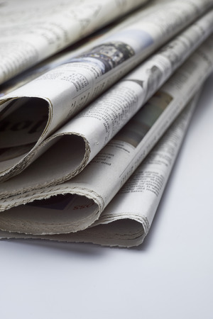 printout: Close up of Newspapers
