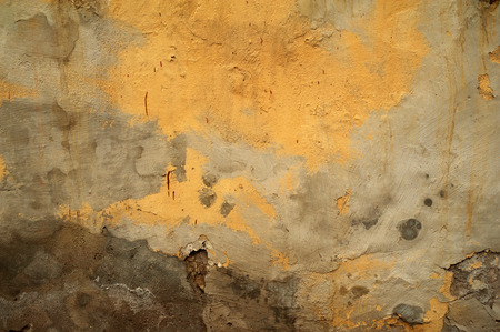 Texture Of Old Rustic Wall Covered With Yellow Stucco Stock Photo ...