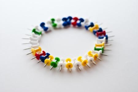 Circle, pushpins Stock Photo - 24291717