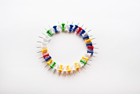 Circle, pushpins Stock Photo - 24291747