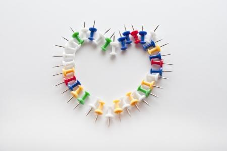 Heart, pushpins