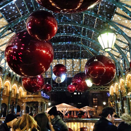 covent garden market: Christmas decorations in covent garden market London