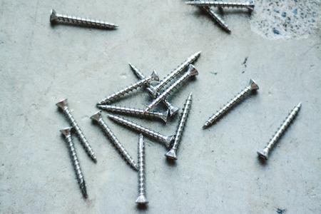 tornillos: tornillos de hormig�n Foto de archivo