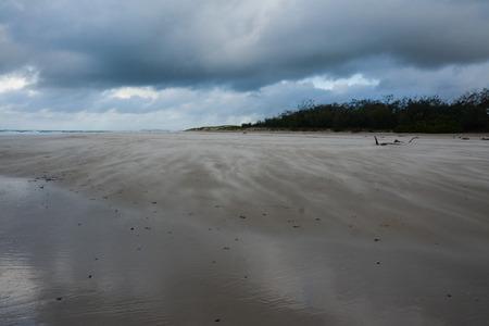 cloud drift: Stormy Windy Beach