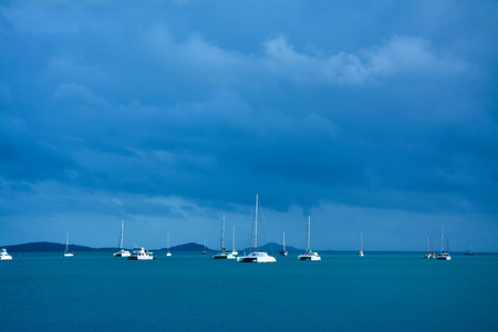 airlie: Stormy Harbour Stock Photo
