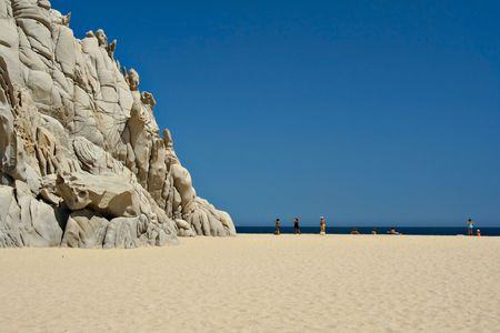 Beautiful beach with unique rock formations, Mexico Stock Photo - 2691524