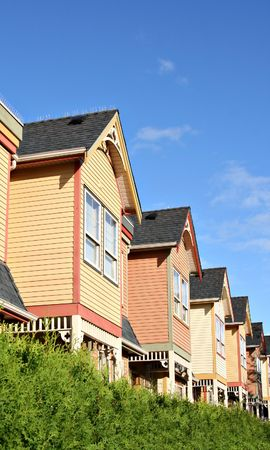 townhomes: Town houses Stock Photo
