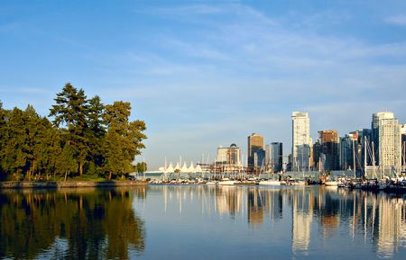 port stanley: Vancouver, Canada, view from Stanley park.