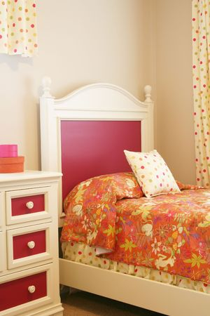 Little girls bedroom.  Reklamní fotografie