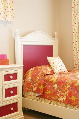 Little girls bedroom.  Stock Photo