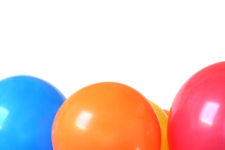 Colorful balloons isolated on white. Stock Photo - 2691353